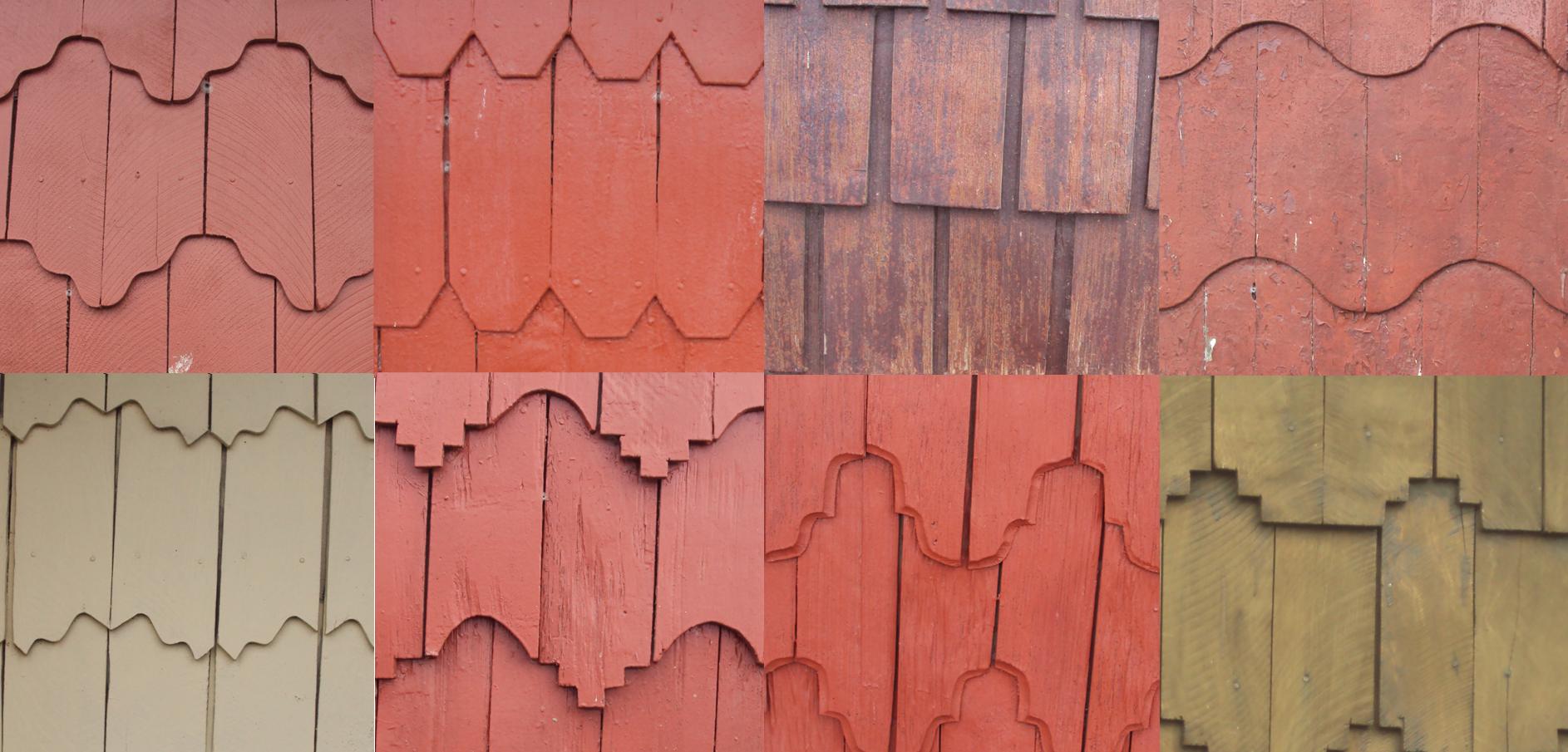 photo of wood shingles